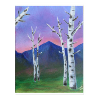 Bäume vor Bergen II Postkarte