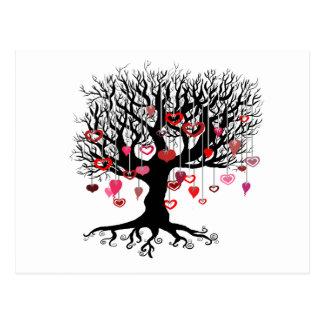 Baumelnde Liebe Postkarte