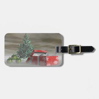 Baumgrün und Geschenke und Bälle Kofferanhänger