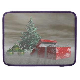 Baumgrün und Geschenke und Bälle Sleeve Für MacBook Pro