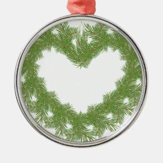 Baumherz Silbernes Ornament