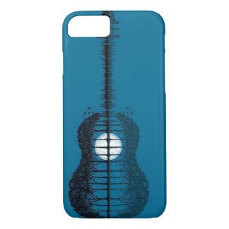 Baummeer und die Mond gedrehte Gitarre iPhone 8/7 Hülle