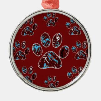 Baumverzierung für Tiere Silbernes Ornament