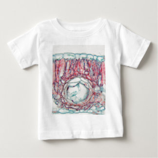 Baumwollblatt unter dem Mikroskop Baby T-shirt