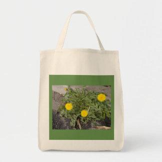 Baumwolleinkaufstasche 100% (Tasche) mit Löwenzahn Tragetasche