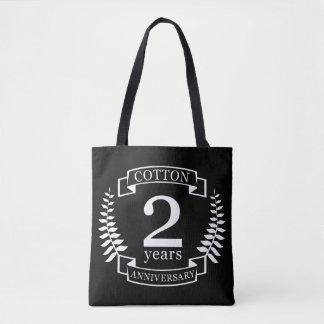 Baumwollhochzeitsjahrestag 2 Jahre verheiratet Tasche