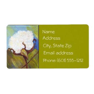 Baumwollsamenkapsel-Adressen-Etikett