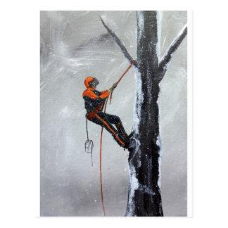 Baumzüchter-Fernstrecke Stihl. Husqvarna Postkarte