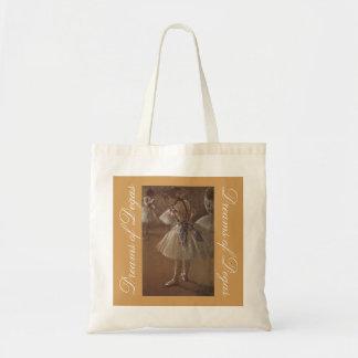 Bauschen sich niedliche Träume von Degas für Tragetasche