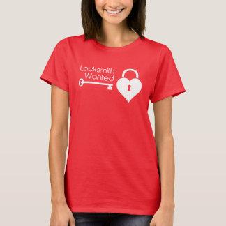 Bauschlosser wollte Herz-Verschluss des Valentines T-Shirt