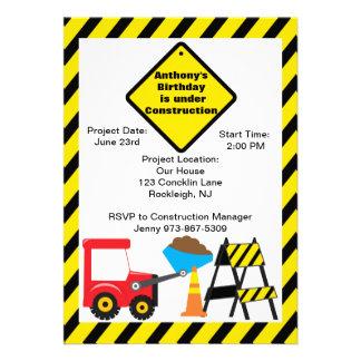 Baustelle-Jungen-Geburtstags-Einladung