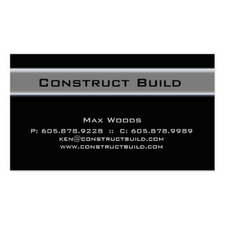 Bauunternehmer-MetallVisitenkarte 10