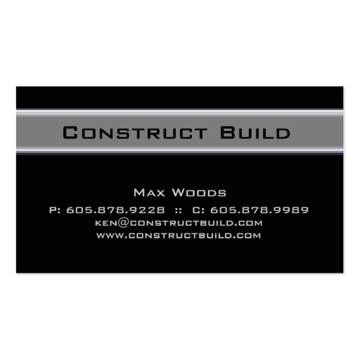 Bauunternehmer-MetallVisitenkarte 10 Visitenkarten Vorlage