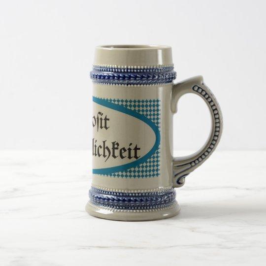 Bavarian beer toast Gemütlichkeit Prosit Bierglas