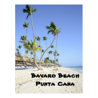 Bavaro Strand auf der Insel von Punta Cana Postkarte
