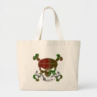 Baxtertartan-Schädel-Taschen-Tasche Jumbo Stoffbeutel