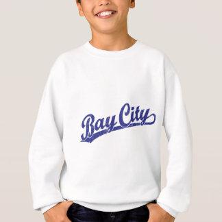 Bay-City Skriptlogo im Blau Sweatshirt