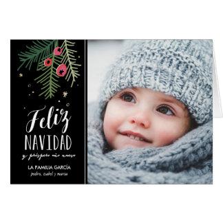Bayas Rojas | Feliz Navidad Karte