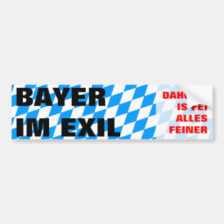 Bayer im Exil Autoaufkleber