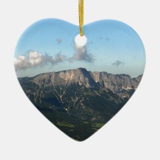 Bayerische Alpen nähern sich Berchtesgaden Keramik Herz-Ornament
