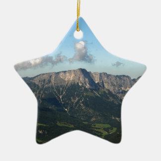 Bayerische Alpen nähern sich Berchtesgaden Keramik Stern-Ornament