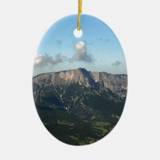 Bayerische Alpen nähern sich Berchtesgaden Ovales Keramik Ornament