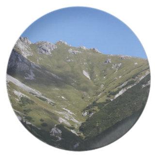 Bayerische Alpen nähern sich Berchtesgaden Teller