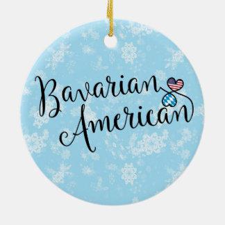 Bayerische amerikanische Herz-Feiertags-Dekoration Rundes Keramik Ornament