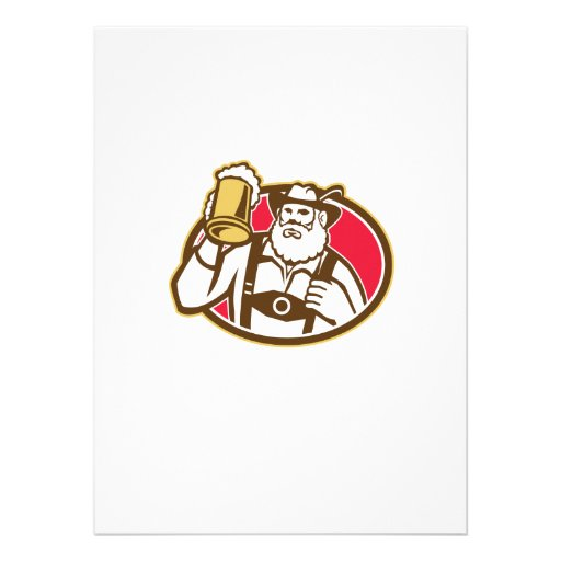 Bayerische Bier-Trinker-Tasse Retro Individuelle Ankündigung