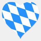 Bayerische Flagge - Bayerische Flagge Herz-Aufkleber