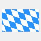 Bayerische Flagge - Bayerische Flagge Rechteckiger Aufkleber