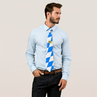 Bayerische Flagge Individuelle Krawatte