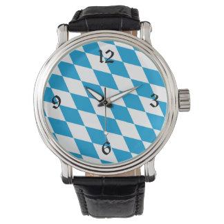 Bayerische Flaggen-Uhr Handuhr
