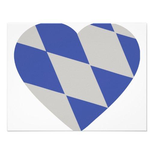 bayerische Herzikone Personalisierte Einladungen