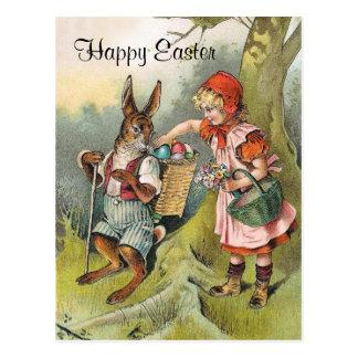 Bayerische Osterhasen-viktorianische Postkarte