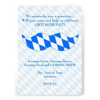 Bayerische Stache Oktoberfest Party Einladungen