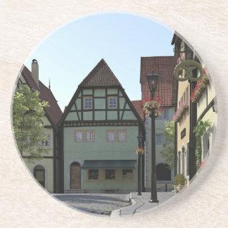 Bayerische StadtStraßenecke-Szene Getränkeuntersetzer