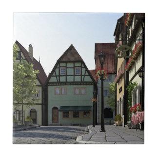 Bayerische StadtStraßenecke-Szene Keramikfliese