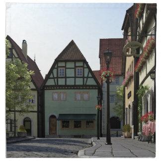 Bayerische StadtStraßenecke-Szene Serviette