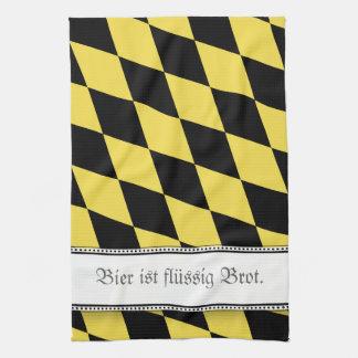 Bayerisches Bier ist groß Handtuch