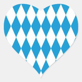 Bayern Bavaria Oktoberfest Herz-Aufkleber