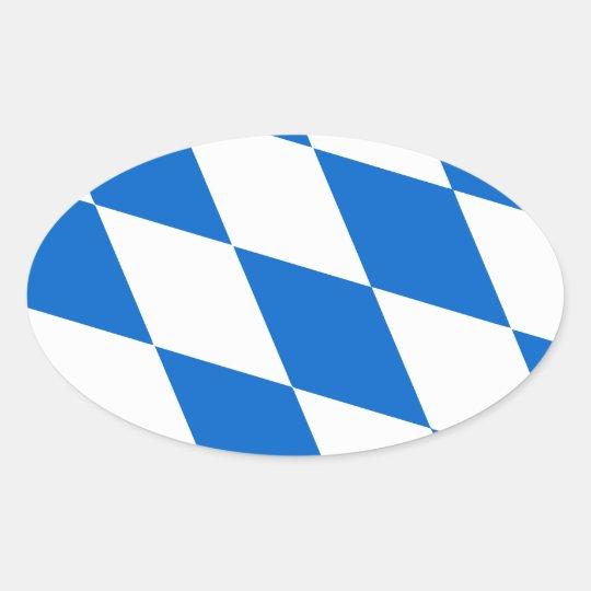 Bayern Flagge Ovaler Aufkleber