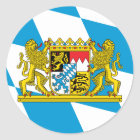 Bayern-Flagge Runder Aufkleber