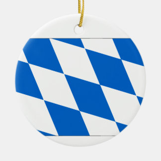 Bayern Flagge Rundes Keramik Ornament