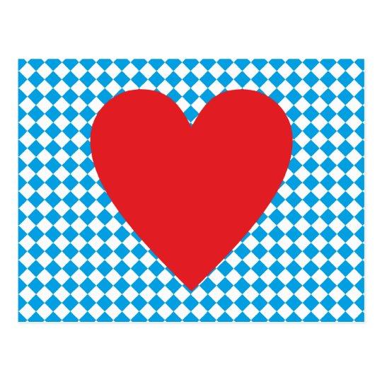 Bayern Herz heart Bavaria Postkarte