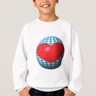 Bayern Herz Kugel Bavaria heart sphere Sweatshirt