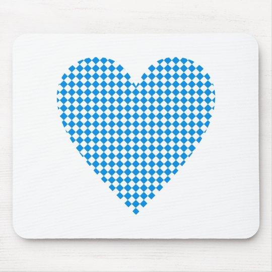 Bayern Herz Rauten Bavaria heart diamonds Mousepad