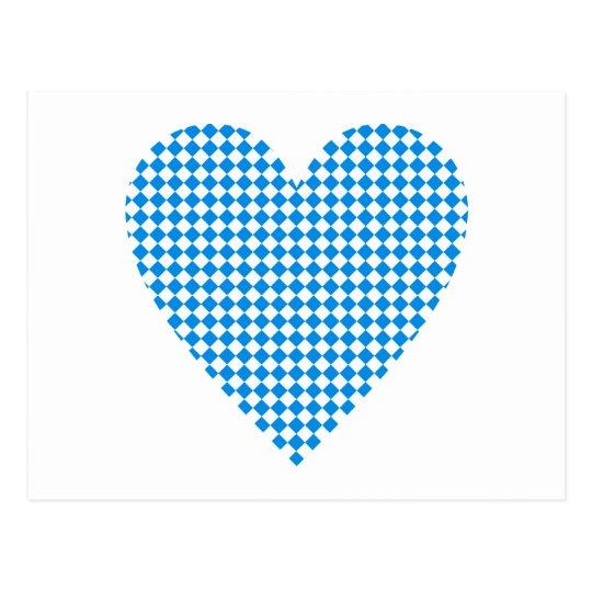 Bayern Herz Rauten Bavaria heart diamonds Postkarte