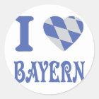 Bayern-Ikone der Liebe I Runder Aufkleber