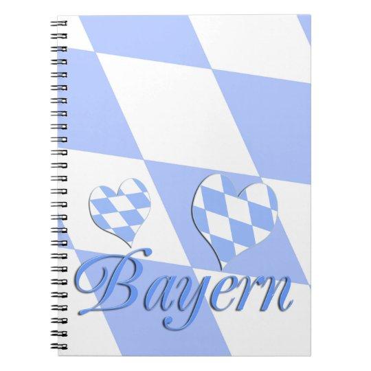 Bayern mit Herzen Spiral Notizblock